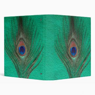 Carpeta verde de la pluma del pavo real