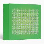 Carpeta verde de la tabla de multiplicación