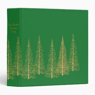 Carpeta verde del álbum del libro de recuerdos del
