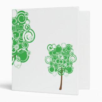 Carpeta verde del árbol del remolino