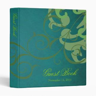 Carpeta verde del libro de visitas del trullo de l