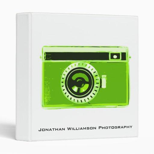 Carpeta verde del negocio de la fotografía de la c