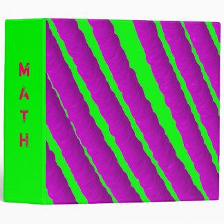 Carpeta verde/rosada fluorescente por sus adolesce