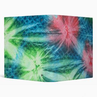 Carpeta verde y azul de Avery del teñido anudado