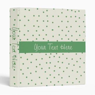 Carpeta verde y blanca de Polkadot