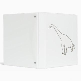 Carpetas de la escuela del dinosaurio del Brontosa