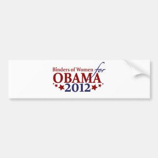 Carpetas de las mujeres para Obama 2012 Pegatina Para Auto
