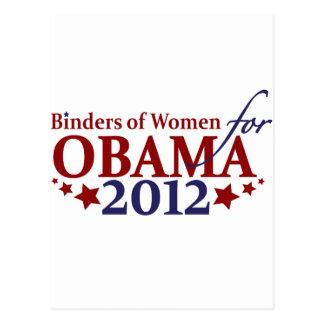 Carpetas de las mujeres para Obama 2012 Tarjetas Postales
