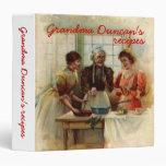 Carpetas de las recetas de la abuela del vintage