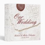 Carpetas del álbum de foto del boda de la letra de
