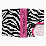 Carpetas del estampado de zebra