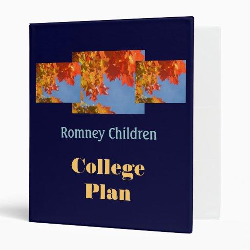 Carpetas del plan de los niños de Romney que plane