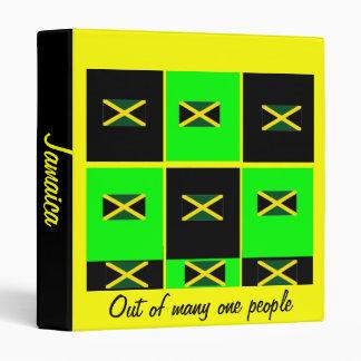 Carpetas-hacia fuera de la bandera de Jamaica de m