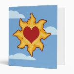Carpetas lindas de Sun y del corazón