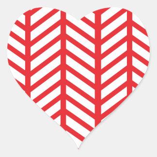 Carpetas rojas de Chevron del lápiz labial Pegatina En Forma De Corazón