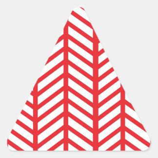 Carpetas rojas de Chevron del lápiz labial Pegatina Triangular