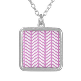 Carpetas rosadas de Bubblegum Chevron Colgante Cuadrado