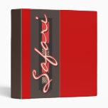 Carpetas y ficheros del diseño de la cebra del saf