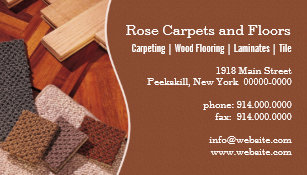 carpets and floors business card - Flooring Business Cards