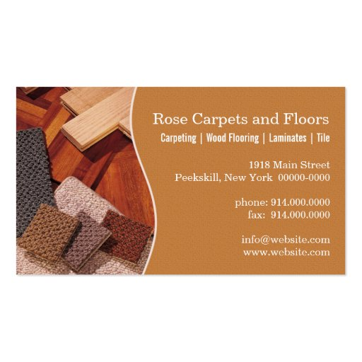 Carpets and floors double sided standard business cards for Flooring business cards