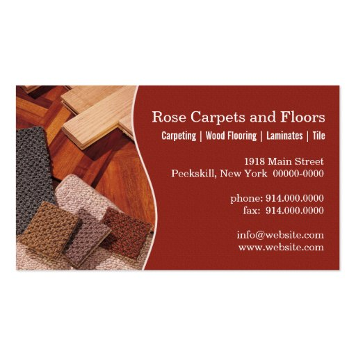 Carpets And Floors Double Sided Standard Business Cards