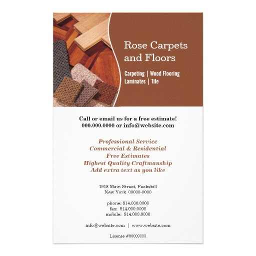 Flooring Sale Flyer : Carpets and floors flyer zazzle