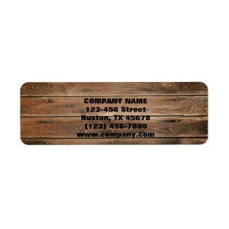 carpintería de madera de la construcción de la etiqueta de remitente