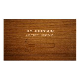 Carpintería de madera tallada de la carpintería tarjetas de visita