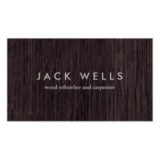Carpintería rústica del carpintero del grano de tarjetas de visita
