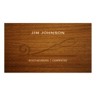 Carpintería tallada de la carpintería del cincel tarjetas de visita