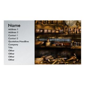 Carpintero - aviones y taladros tarjetas de visita