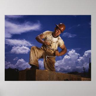 Carpintero de construcción, 1942 póster