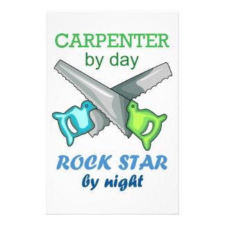 Carpintero de la estrella del rock del día por papelería de diseño