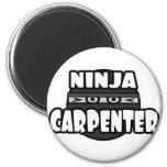 Carpintero de Ninja Imán De Nevera