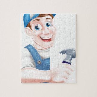 Carpintero del martillo del dibujo animado puzzle