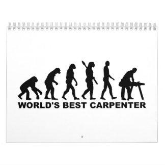 Carpintero del mundo de la evolución el mejor calendario de pared