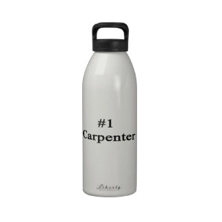 Carpintero del número 1 botella de agua reutilizable
