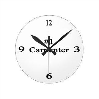 Carpintero del número 1 reloj