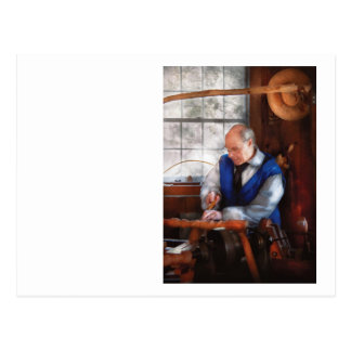 Carpintero - el Woodturner Postal