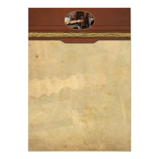 Carpintero - torno - versión preliminar invitación 12,7 x 17,8 cm