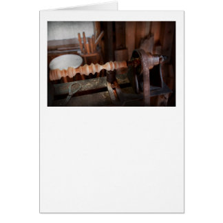 Carpintero - torno - versión preliminar tarjeta de felicitación