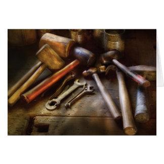 Carpintero - una colección de martillos tarjeta de felicitación