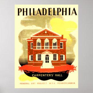 Carpinteros Pasillo de Philadelphia Pennsylvania Posters
