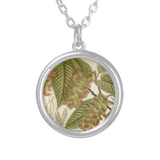 Carpinus japonica, Betulaceae Silver Plated Necklace