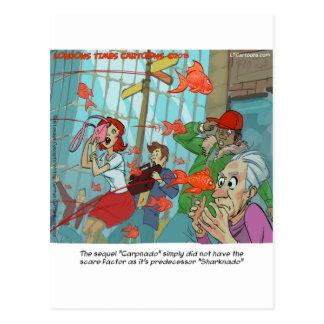 Carpnado: A Storm Of Goldfish Postcard