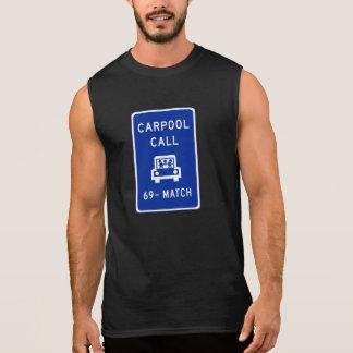 Carpool Call, Traffic Sign, Oregon, USA Sleeveless Shirt