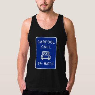 Carpool Call, Traffic Sign, Oregon, USA Tank Top