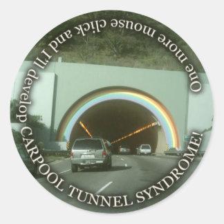 carpool-tunnel-syndrome classic round sticker