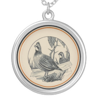 Carr China's WV State Parks Design: Quail Round Pendant Necklace