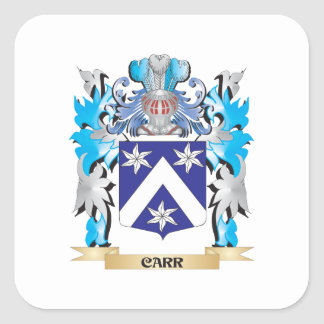 Carr Coat of Arms - Family Crest Square Sticker